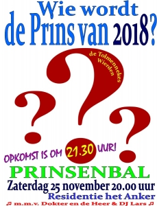 Poster prinsenbal 2018